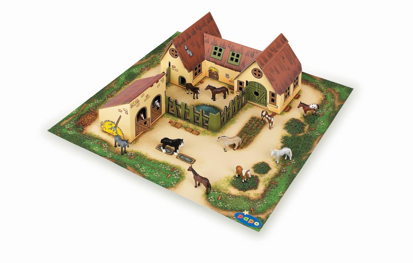 Как сделать ферму на картоне