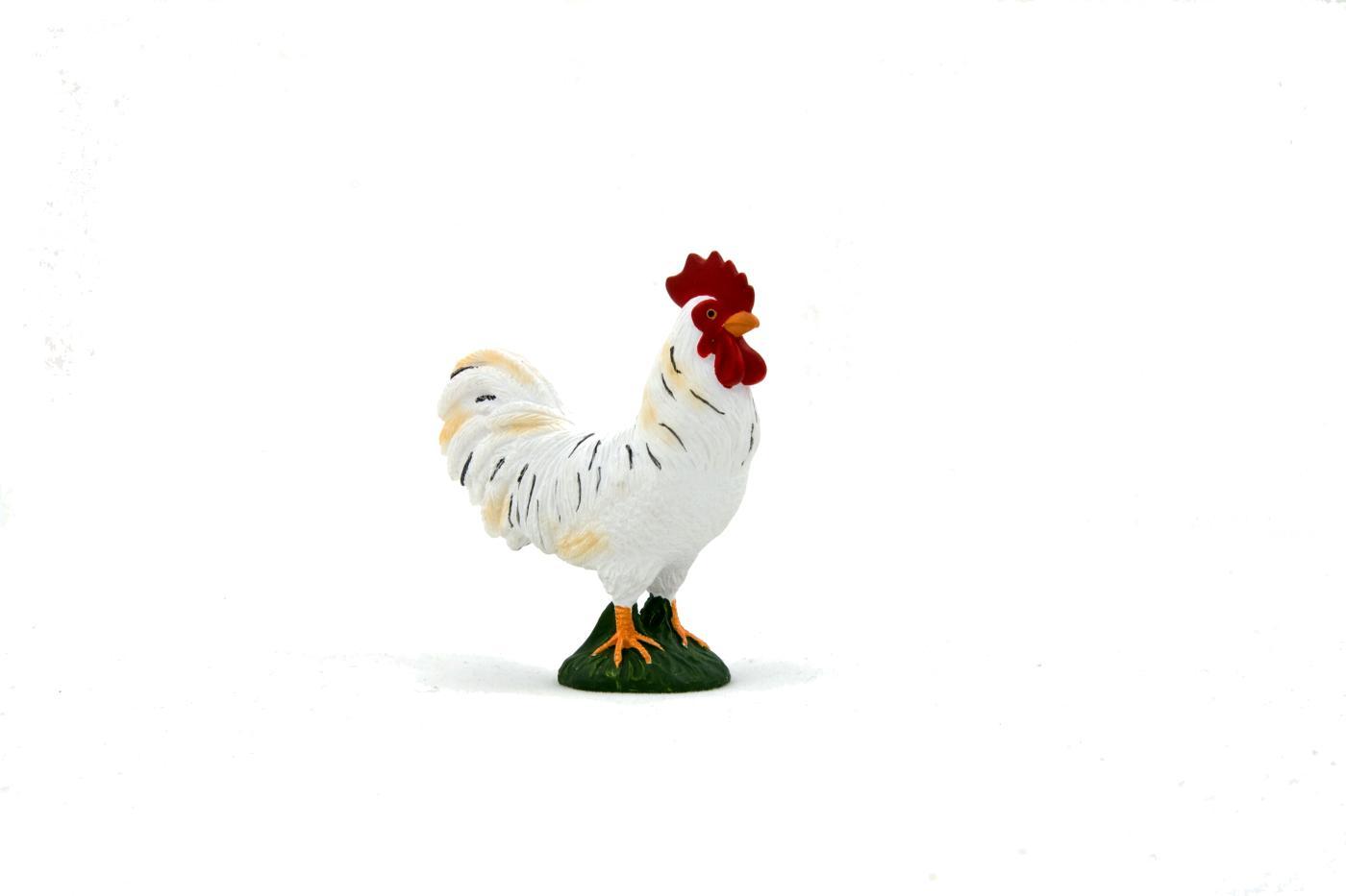 Hahn weiss 6 cm Bauernhof Collecta 88128