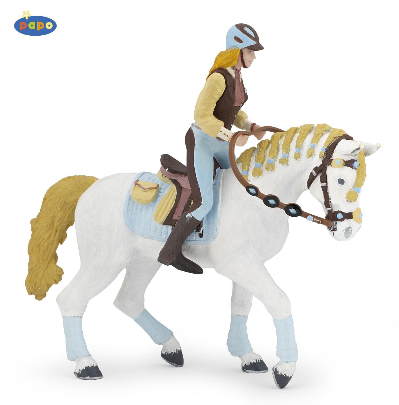 papo 51545 pferd der reiterin fashion blau ohne reiter bei spielzeug. Black Bedroom Furniture Sets. Home Design Ideas