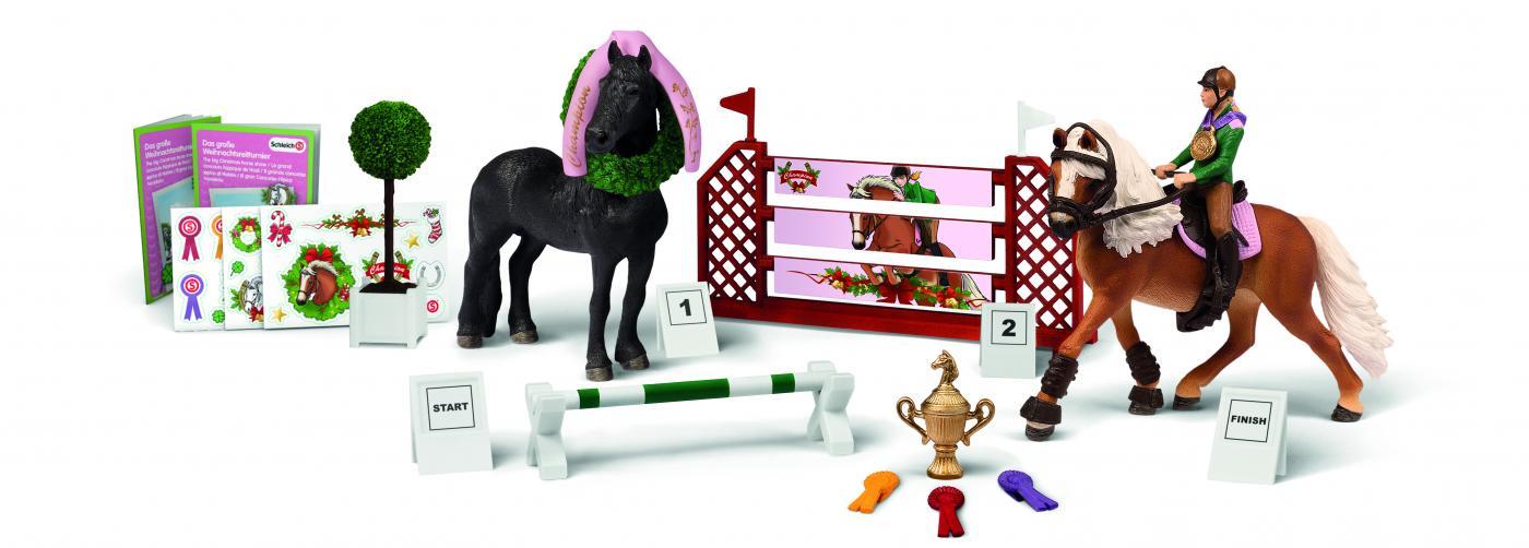 Pferde Weihnachtskalender.Schleich 97051 Adventskalender Pferde 2015 Weihnachtliches Reitturnier