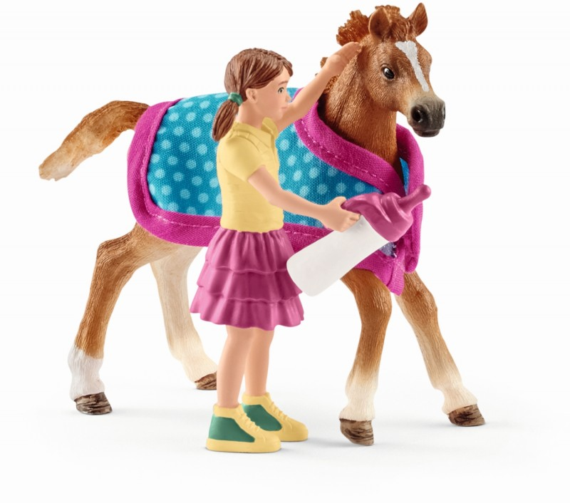 Plastic Figure Horse Club SCHLEICH 42368 Horse Stall With Lusitano Mare