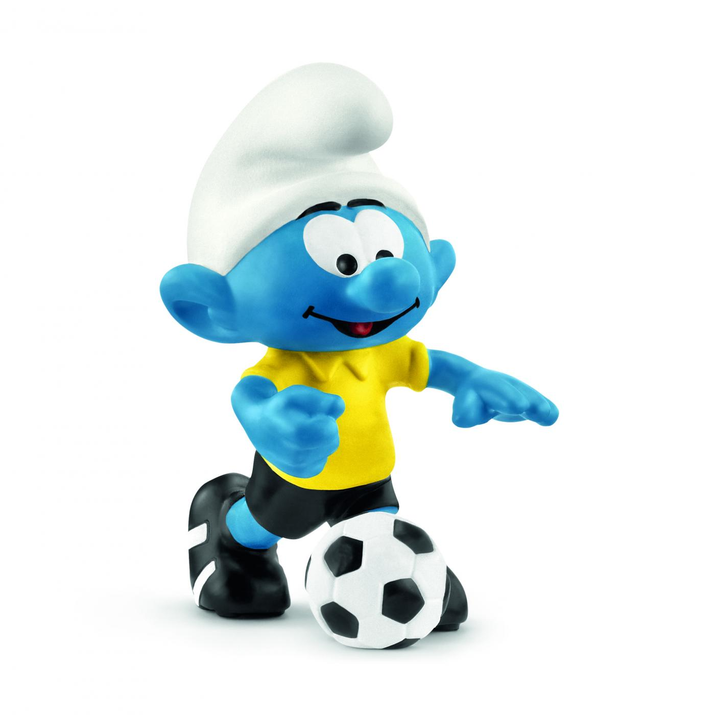 20807 SMURF WITH TROPHY FOOTBALL SMURF NEW FOR 2018 by SCHLEICH THE SMURFS