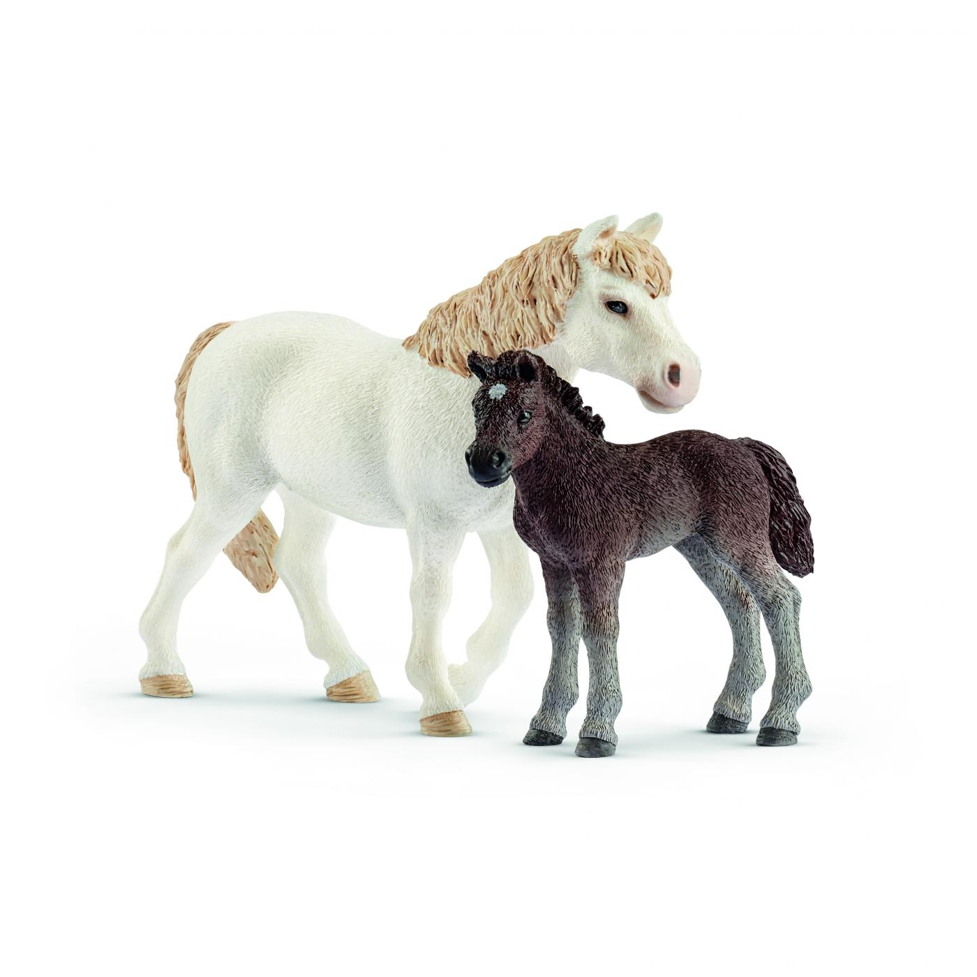 Pony Mare and Foal Scheich 42423 NEW!!