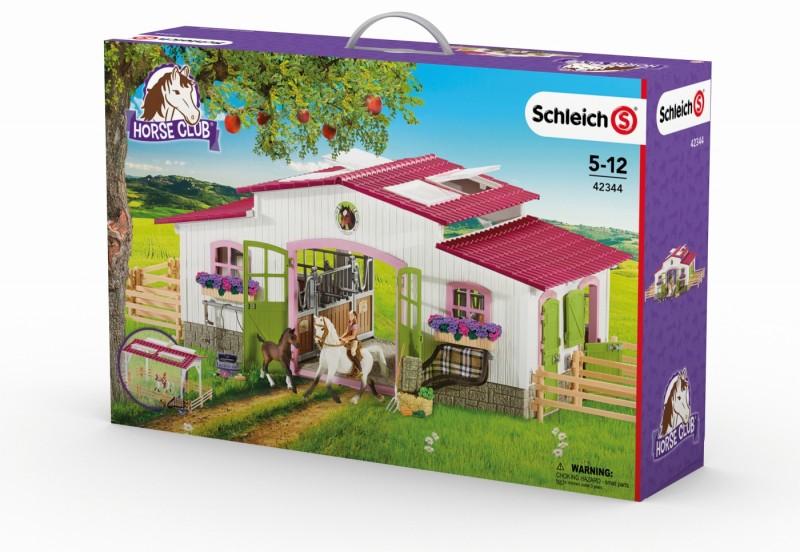 Schleich Reiterhof mit Reiterin, Pferden und Zubehör 42344