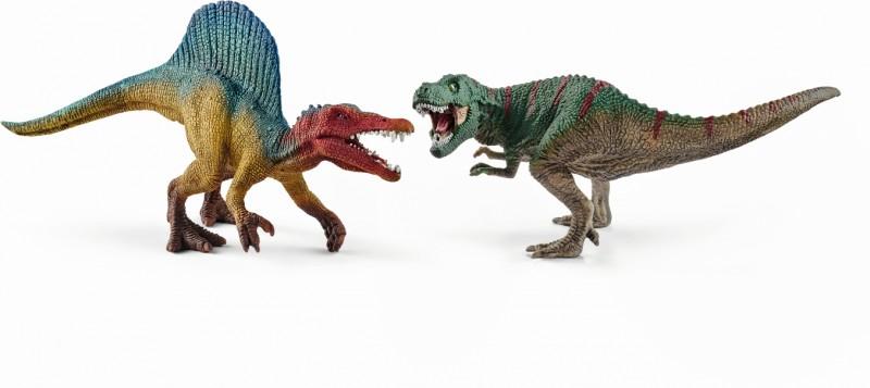 schleich dinosaurs schleich spinosaurus and t rex small 41455. Black Bedroom Furniture Sets. Home Design Ideas