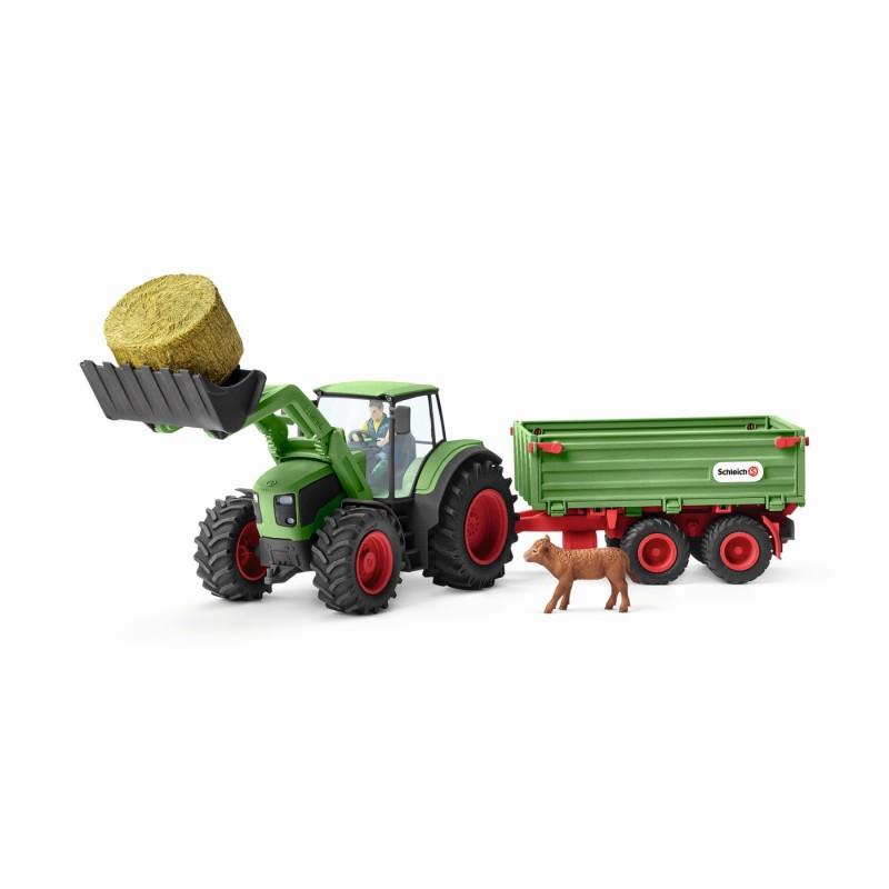 schleich bauernhoftiere schleich traktor mit anh nger 42379. Black Bedroom Furniture Sets. Home Design Ideas