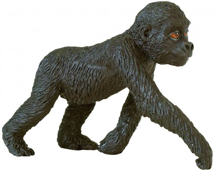 Vintage 1990 Safari Ltd Black GORILLA Animal Figure 4 tall Silverback Lowland
